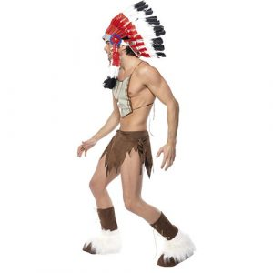 Costume homme village people indien profil
