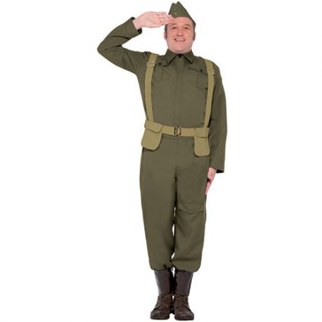 Costume homme volontaire guerre