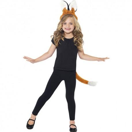 Costume enfant kit oreilles queue de renard