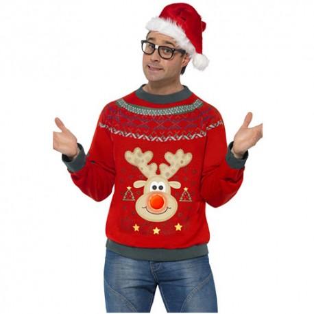 Pull homme renne de Noël