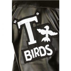 Costume enfant veste noire T-Bird détail manche