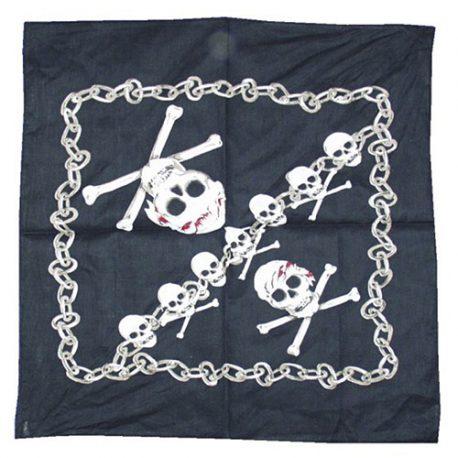 Bandana pirate noir blanc