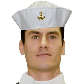 Bob marin blanc ancre