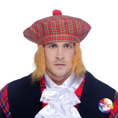 Bonnet écossais cheveux roux