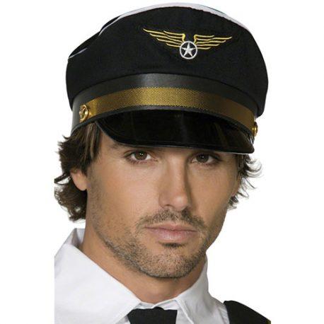 Casquette pilote noire