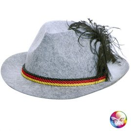 Chapeau Bavarois Tyrolien plume gris