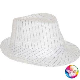 Chapeau gangster Tony blanc