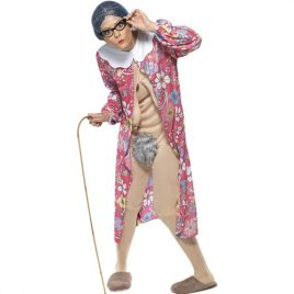 Costume femme vieille exhibitionniste