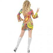 Costume femme 60s flower power dos