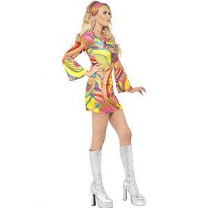 Costume femme 60s flower power profil