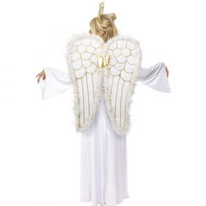 Costume femme ange raffiné dos