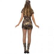 Costume femme armée sexy camouflage dos