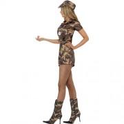 Costume femme armée sexy camouflage profil