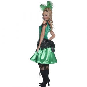 Costume femme Authentic Western danseuse de saloon profil
