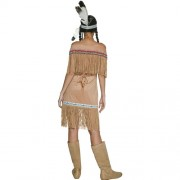 Costume femme Authentic Western indienne dos