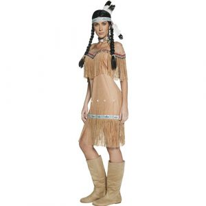 Costume femme Authentic Western indienne profil