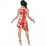 Costume femme beauté hawaïenne dos