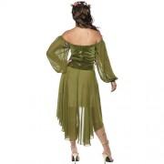 Costume femme belle bohémienne médiévale dos