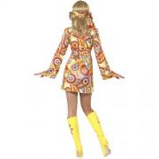 Costume femme belle hippie 1960 dos