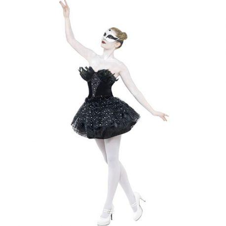 Costume femme black swan gothique