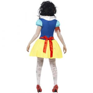 Costume femme Blanche Neige zombie dos