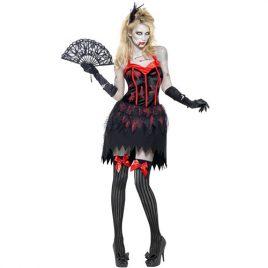 Costume femme cabaret burlesque zombie