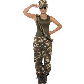 Costume femme camouflage extrême