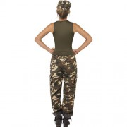 Costume femme camouflage extrême dos