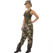 Costume femme camouflage extrême profil