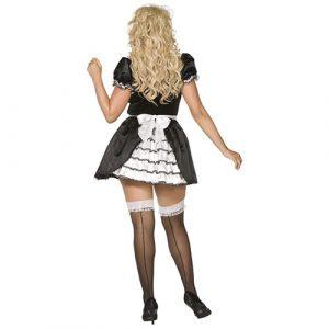 Costume femme de chambre charme française dos