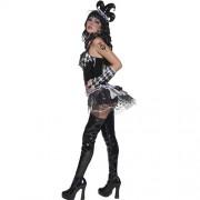 Costume femme cirque sinistre Arlequine profil