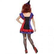 Costume femme cirque sinistre clown Bobo dos