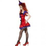 Costume femme cirque sinistre clown Bobo profil