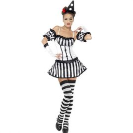 Costume femme clown mime diva sexy