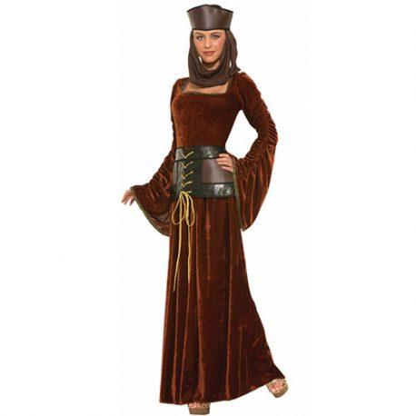 Costume femme dame médiévale élégante
