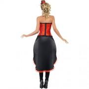 Costume femme danseuse cabaret burlesque dos