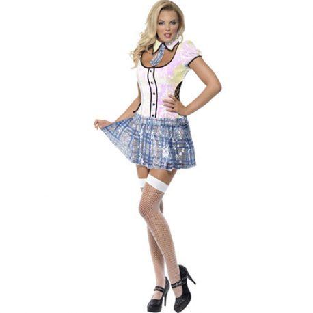 Costume femme écolière bling bling