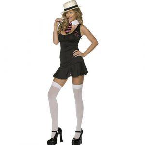 Costume femme écolière classe profil