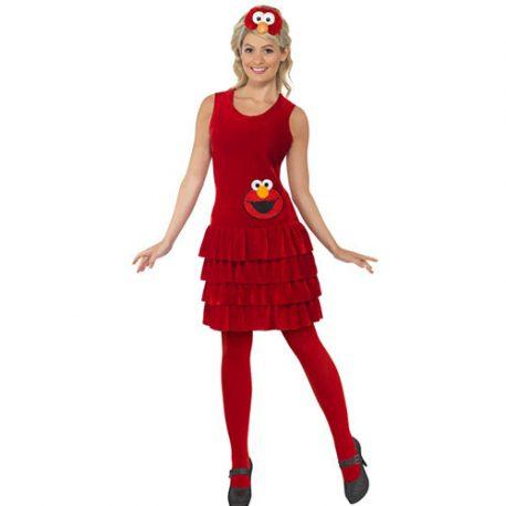 Costume femme Sesame Street Elmo