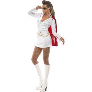 Costume femme Elvis viva Las Vegas profil