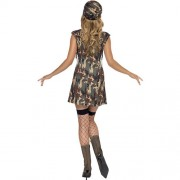 Costume femme militaire armée de terre dos