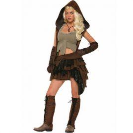 Costume femme guerrière médiévale