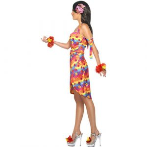 Costume femme hawaïenne party profil