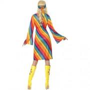 Costume femme hippie arc-en-ciel dos