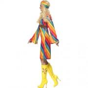 Costume femme hippie arc-en-ciel profil