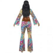 Costume femme hippie flower power dos