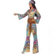 Costume femme hippie flower power profil