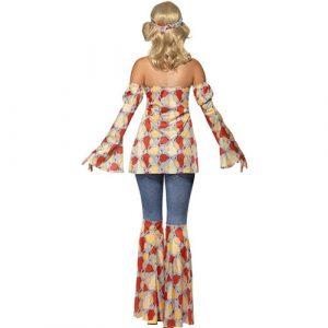 Costume femme hippie vintage 1970 dos