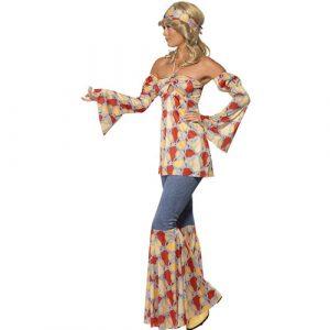 Costume femme hippie vintage 1970 profil