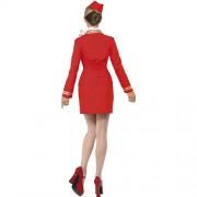 Costume femme hôtesse de l'air dos